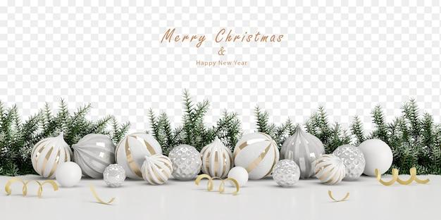 Adornos navideños en renderizado 3d