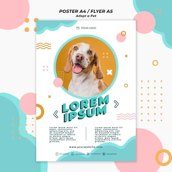 Adotta il modello di poster per animali domestici