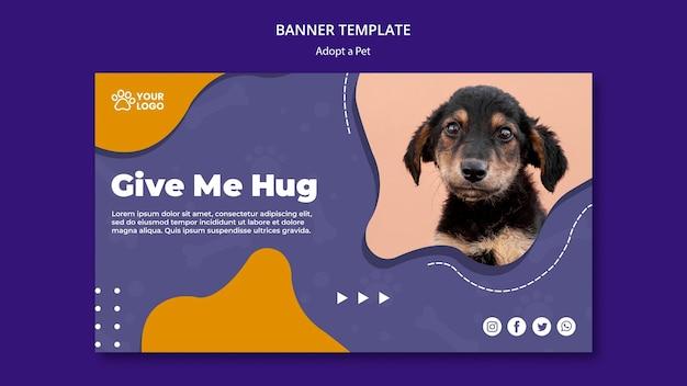 Adotta un concetto di banner per animali domestici