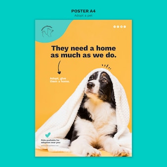Adotta un design per poster da compagnia