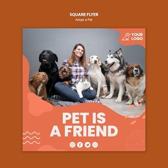 Adotta un volantino quadrato per animali domestici