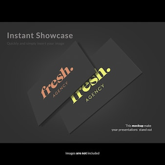 Adreskaartje met logo mock up