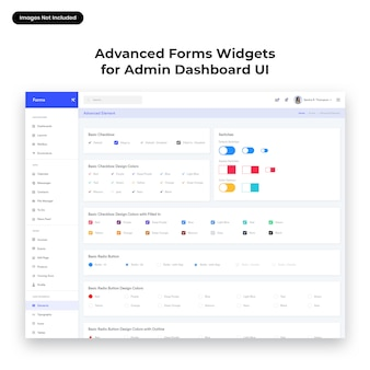 Advanced form widgets ui voor admin dashboard