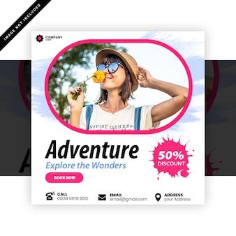 Adventure post-sjabloon