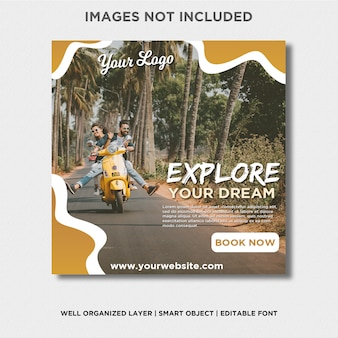 Adventures explore your dream instagram banner