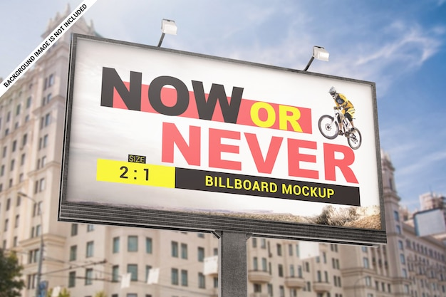 Advertentie billboard mockup