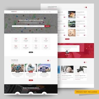 Advertenties voor het plaatsen van websites psd-sjabloon