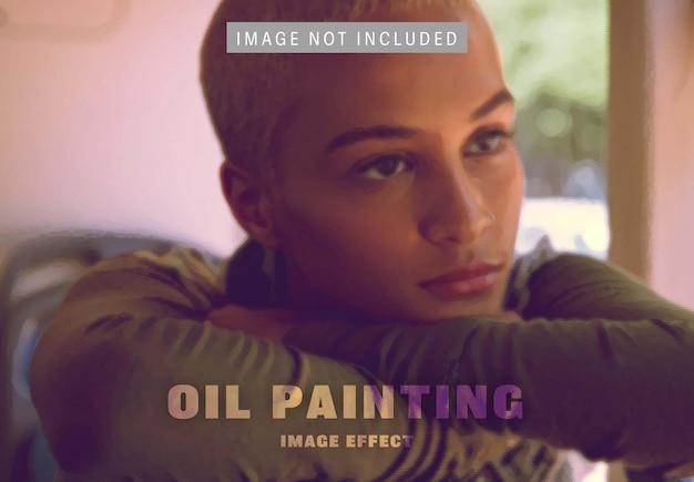 Afbeeldingseffect olieverfschilderij