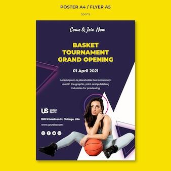 Afdruksjabloon voor basketbaltoernooien