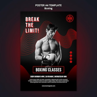 Afdruksjabloon voor boksen met foto