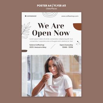 Afdruksjabloon voor coffeeshops
