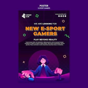 Afdruksjabloon voor e-sportspellen