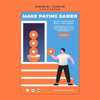 Afdruksjabloon voor e-wallet-app