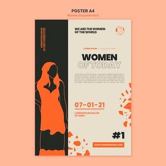 Afdruksjabloon voor empowerment van vrouwen