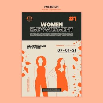 Afdruksjabloon voor empowerment van vrouwen Gratis Psd
