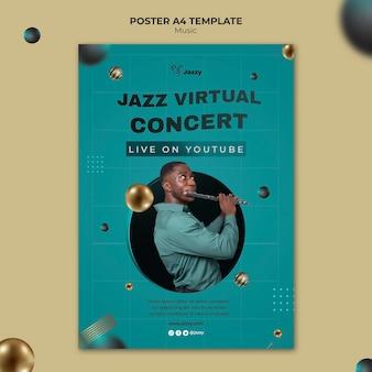 Afdruksjabloon voor jazzmuziekfestival