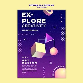 Afdruksjabloon voor kunstontwerp