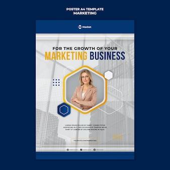 Afdruksjabloon voor marketingzaken