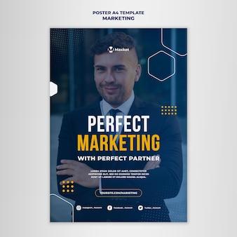 Afdruksjabloon voor marketingzaken Gratis Psd