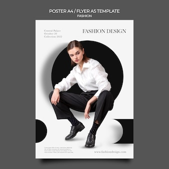 Afdruksjabloon voor modeontwerp