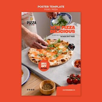 Afdruksjabloon voor pizzarestaurant