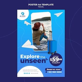 Afdruksjabloon voor reisbureaus Premium Psd