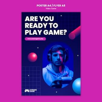 Afdruksjabloon voor videogames