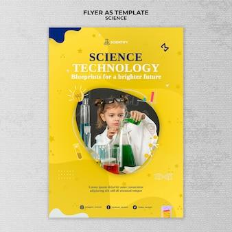 Afdruksjabloon voor wetenschappelijke lessen