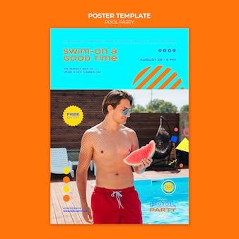 Afdruksjabloon voor zwembadfeest