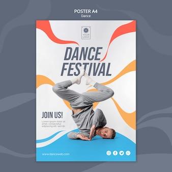 Affiche voor dansfestival met performer