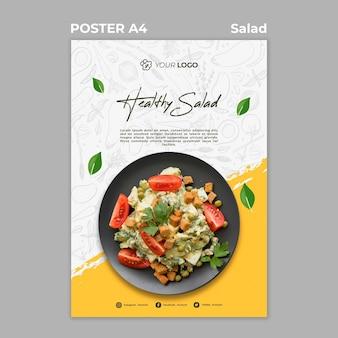 Affiche voor een gezonde salade-lunch
