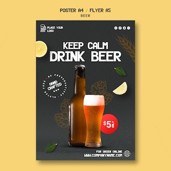 Affiche voor het drinken van bier