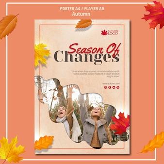 Affiche voor het verwelkomen van de herfst seizoen