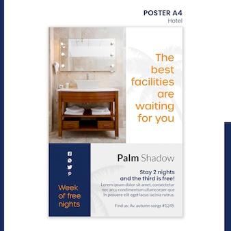 Affiche voor hotelreservering