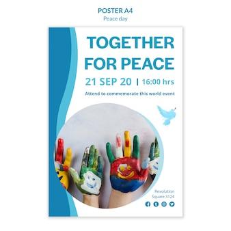Affiche voor internationale dag van vrede
