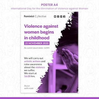 Affiche voor internationale dag voor de uitbanning van geweld tegen vrouwen