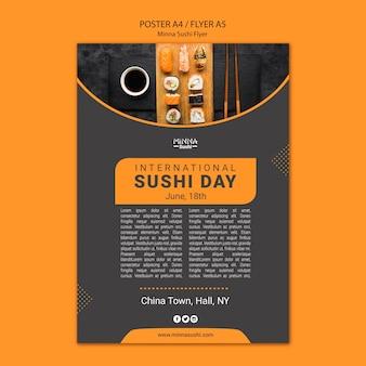 Affiche voor internationale sushidag
