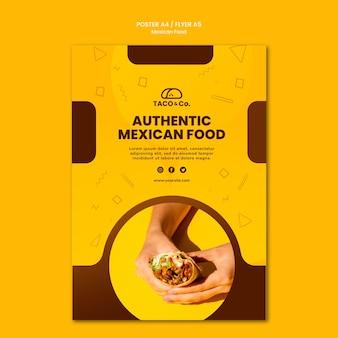 Affiche voor mexicaans eten restaurant