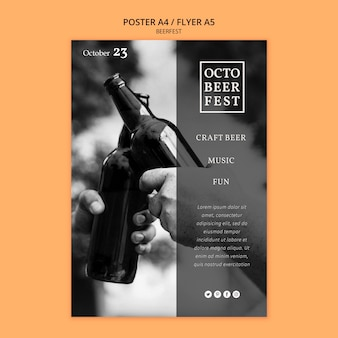 Affiche voor octobeerfest