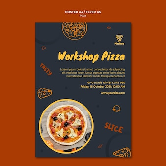 Affiche voor pizzarestaurant