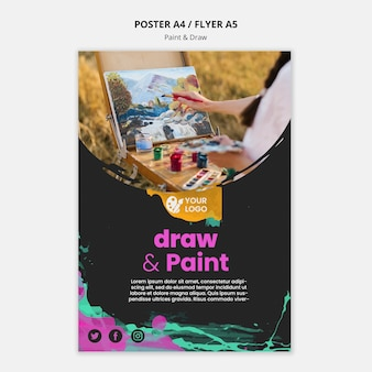 Affiche voor teken- en schilderkunstenaars