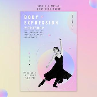Affiche voor workshop lichaamsuitdrukking