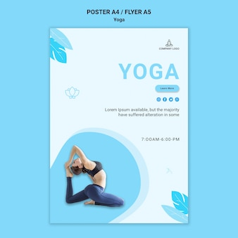 Affiche voor yoga-oefening