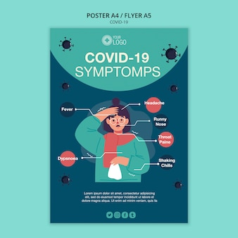Affichemalplaatje met covid 19