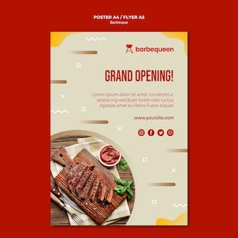 Affichemalplaatje voor barbecuerestaurant