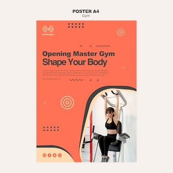 Affichemalplaatje voor gymnastiekactiviteit