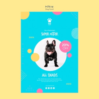 Affichestijl voor verkoop van hondenvoer