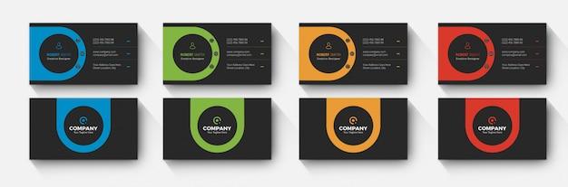 Afgerond visitekaartje modern en donker ontwerp