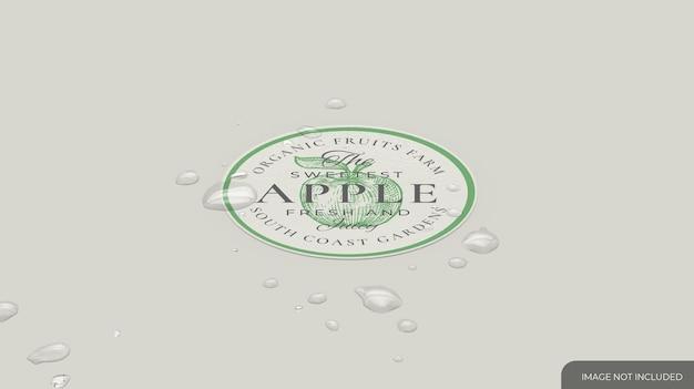 Afgerond waterdicht stickermodel