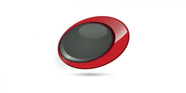 Afgeronde knop logo ontwerp